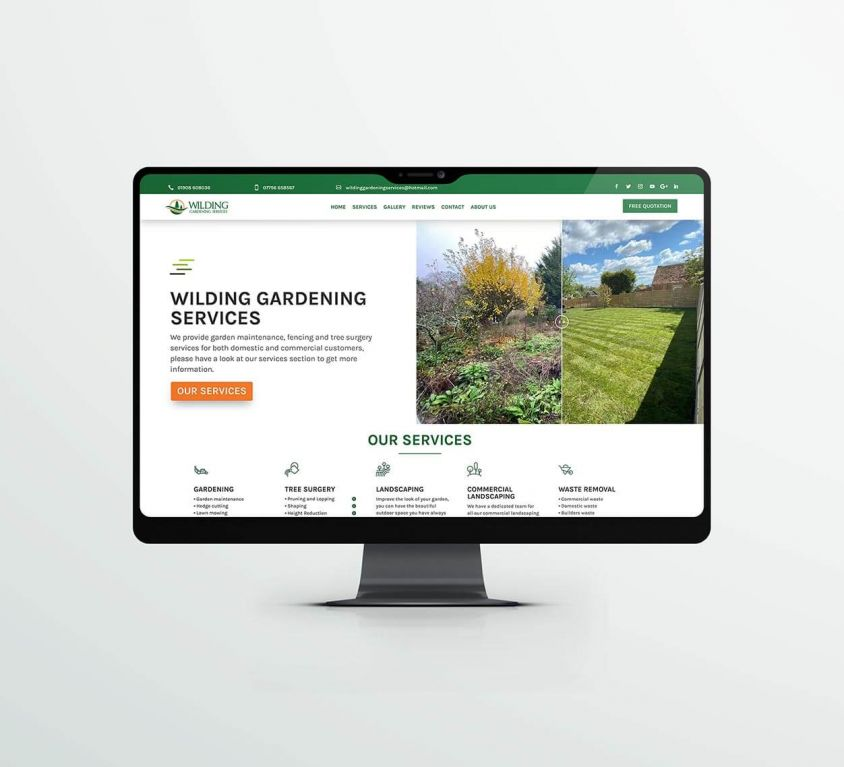 Wilding Gardening – Web Design
