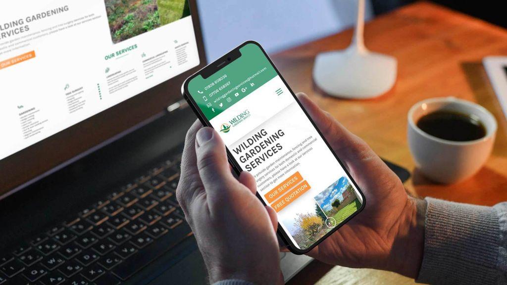 landscaping web design mobile