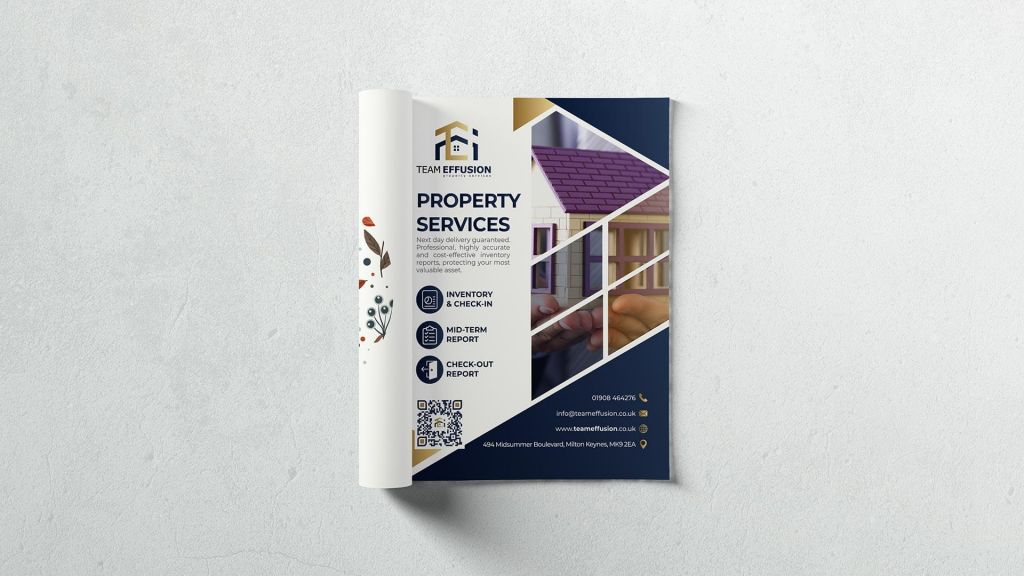 estate advert design