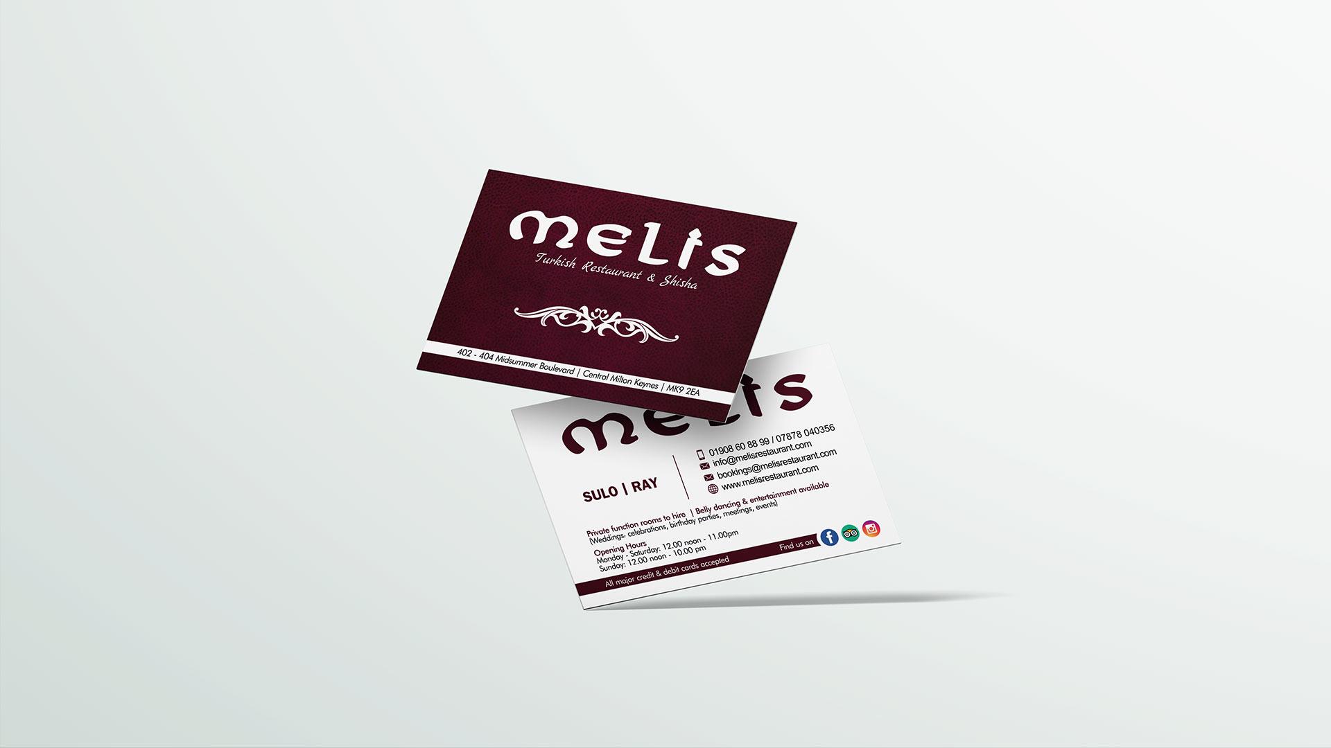 business card design, melis