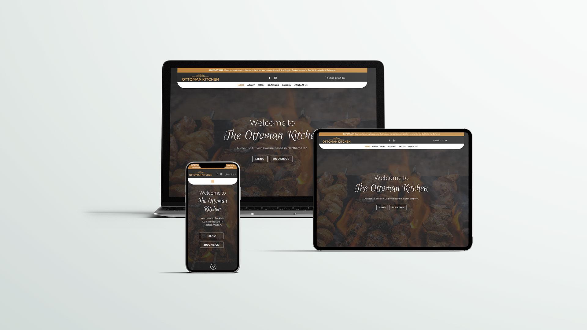 restaurant website design multidevice
