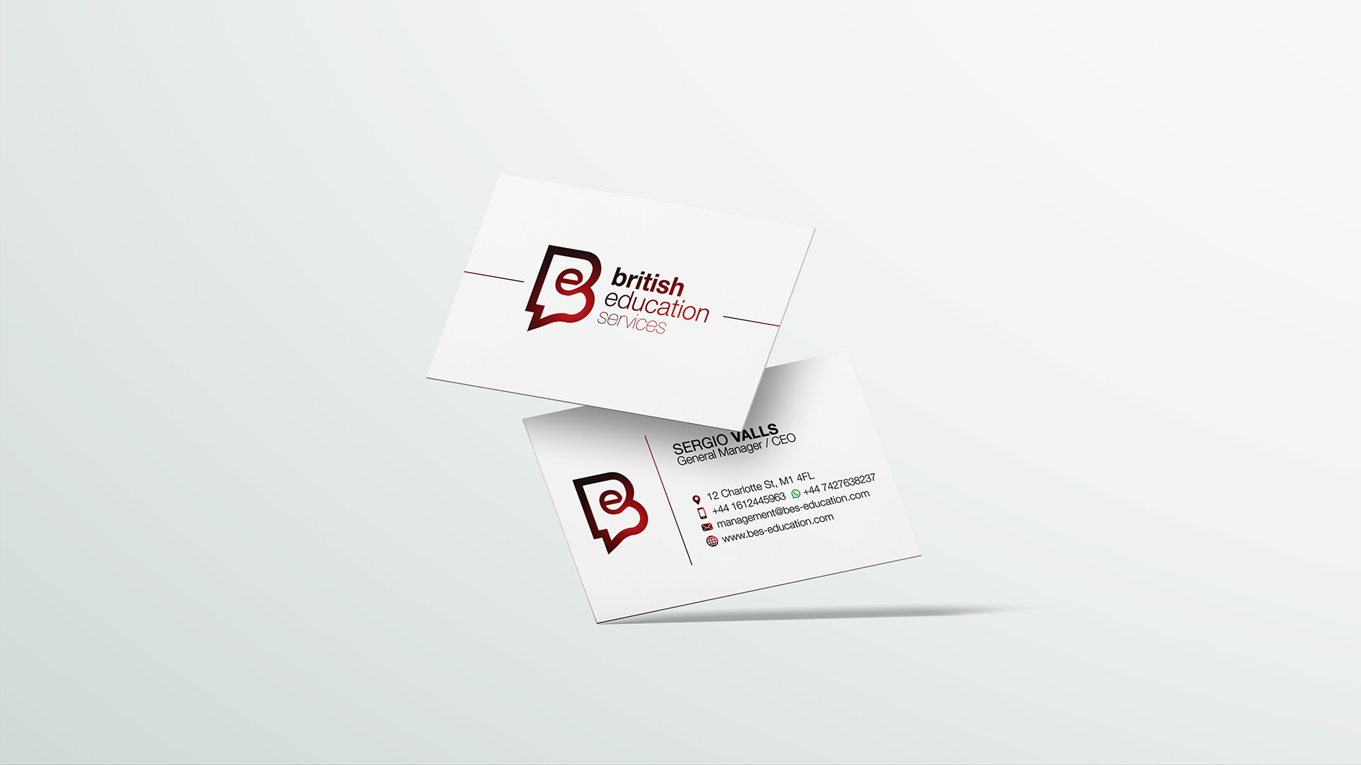 school business card design