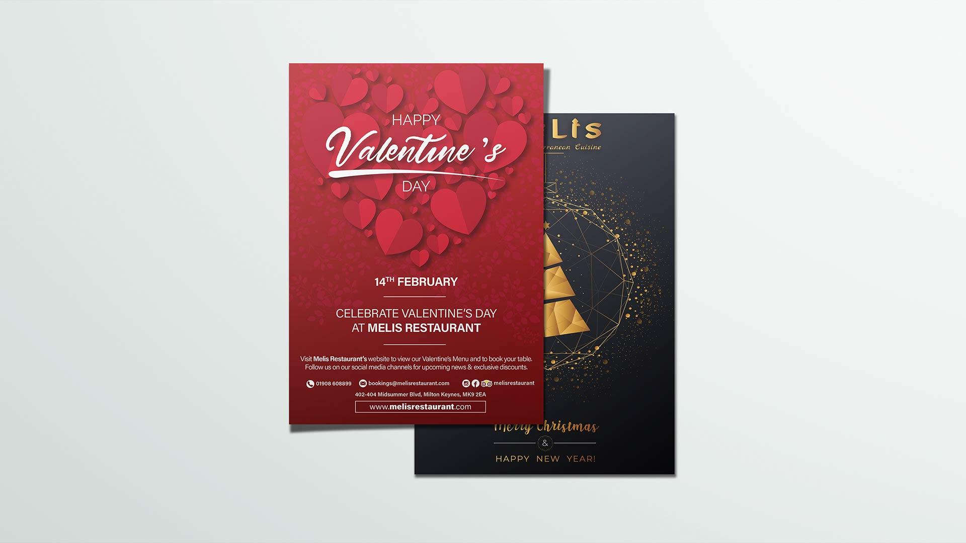 valentines day poster design, christmas poster design