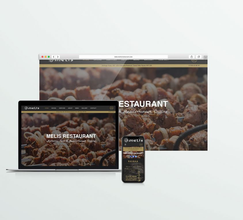 Melis Restaurant – Web design
